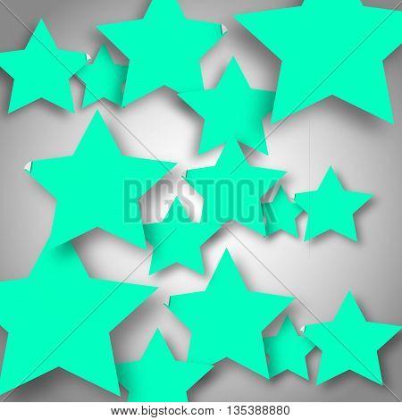 Background with aquamarine stars. Vector illustration EPS 10
