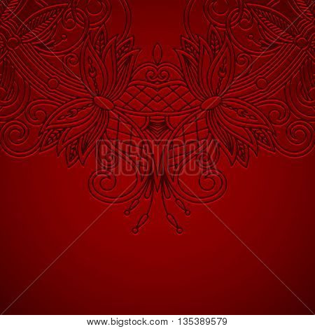 Vector Background With Vintage Pattern.
