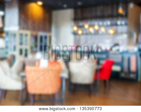 Blurred coffee shop or cafe or restaurant as background