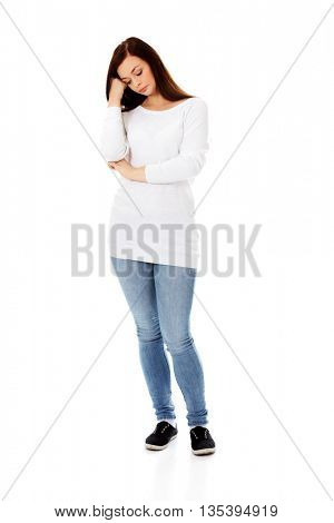 Thoughtful young woman with problem