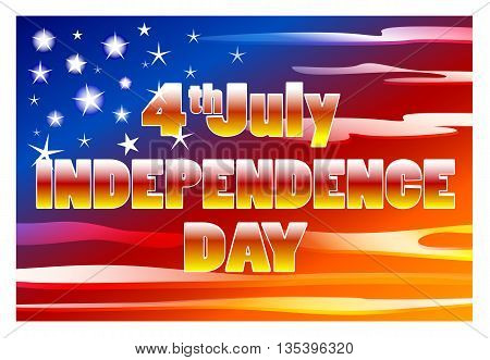 Independence Day. US Independence Day. Sky stylized US flag. Happy Independence Day. Independence Day 4th july 1776.