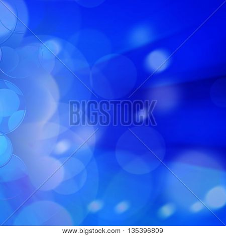 Blue motion blur abstract background holiday card.