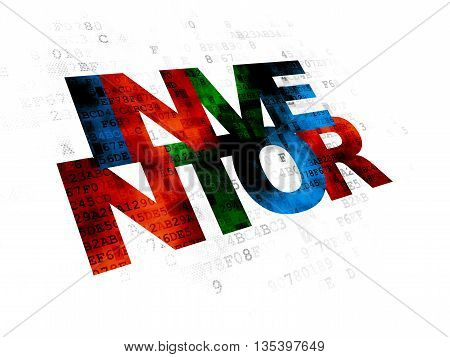 Science concept: Pixelated multicolor text Inventor on Digital background