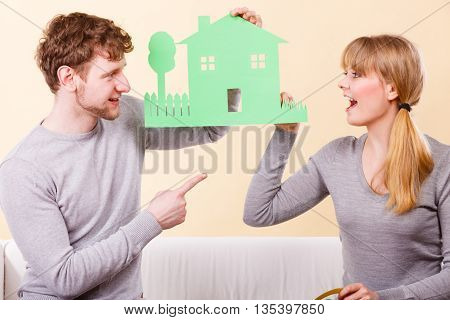 Young Couple Planning Future.