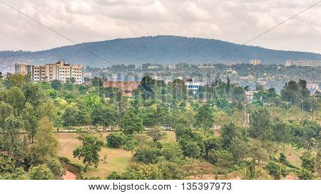Aerial View Of Kigali From A Distance