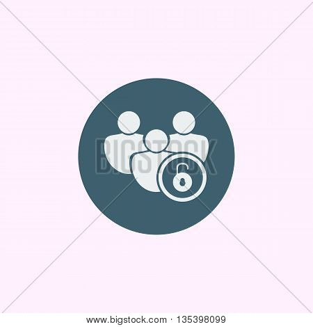 User Open Icon In Vector Format. Premium Quality User Open Symbol. Web Graphic User Open Sign On Blu