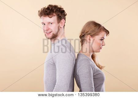Funny Couple Playing Together.