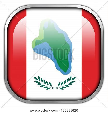 Flag Of Cumberland Head, New York, Square Glossy Button