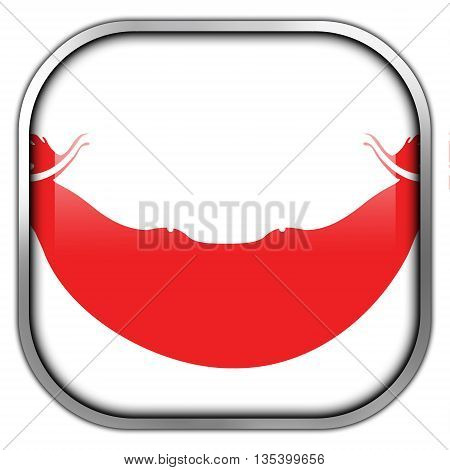 Flag Of Easter Island, Square Glossy Button
