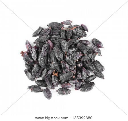 Dried barberry isolated on white
