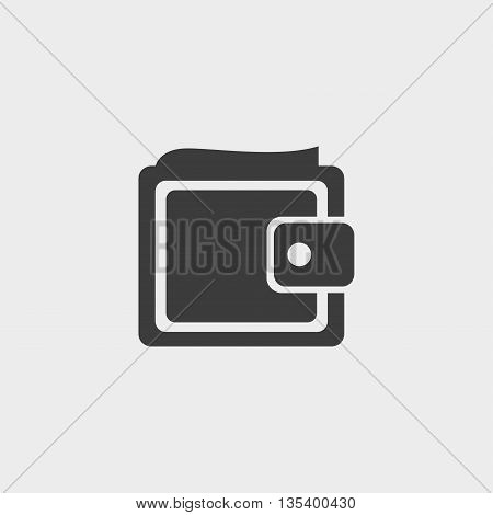 wallet icon Car Icon in a flat design in black color. Vector illustration eps10