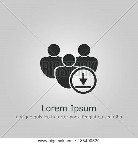 Download Icon In Vector Format. Premium Quality Download Symbol. Web Graphic Download Sign On Grey B