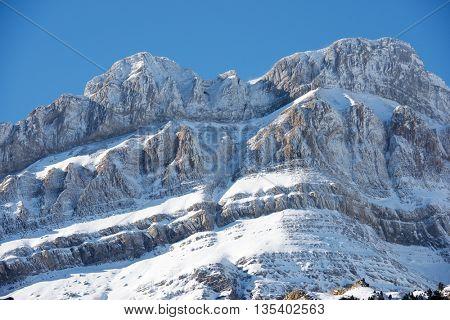 Lecherines peaks in Canfranc Valley, Aragon, Huesca, Spain.