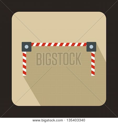 Barrier icon in flat style on a beige background