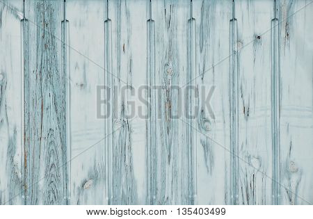 Blue Teal Grunge Painted Wooden Planks Panel