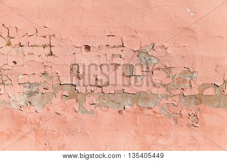 Background Texture Of Old Red Concrete Wall