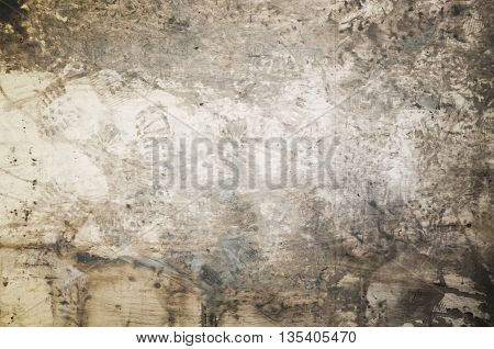 Dirty Wooden Floor With Footprints