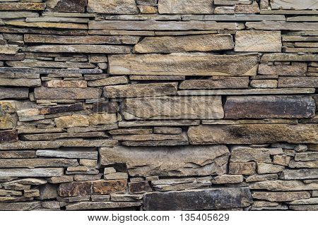 Detail texture of the stone wall closeup