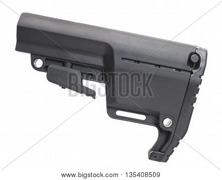 Polymer stock that can be adjusted in length for an rifle