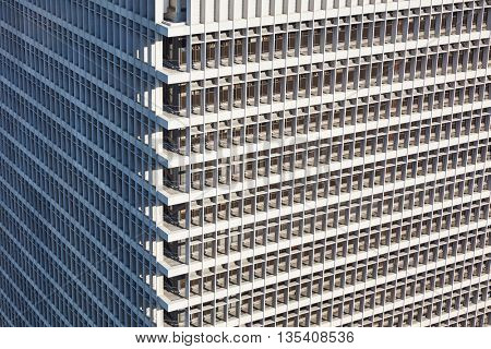 Exterior office skyscraper building texture with many windows