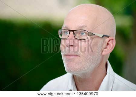 a portrait of a middle aged man