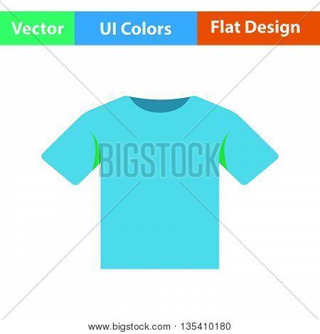 T-shirt icon. Flat  color design. Vector illustration.