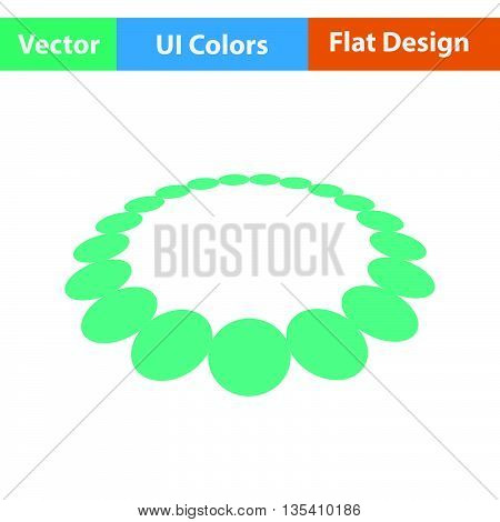 Beads icon. Flat  color design. Vector illustration.