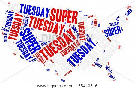 Super Tuesday. Concept Related To American President Election.