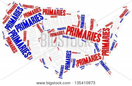 Us Primaries. Concept Related To American President Election.