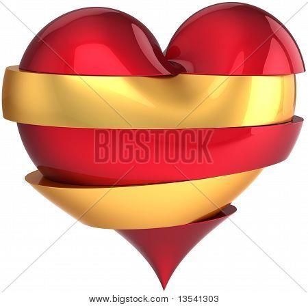 Broken sliced heart shape