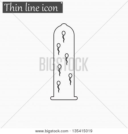 Sperms icon Vector Style Black thin line
