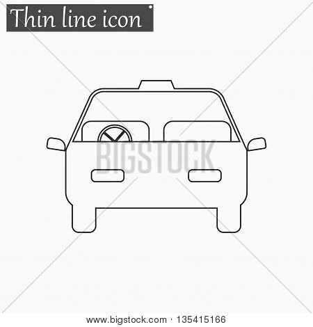 Car icon Vector Style Black thin line
