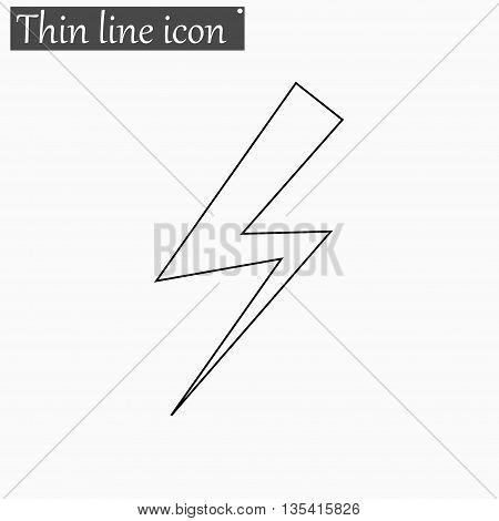 bolt icon Vector Style Black thin line