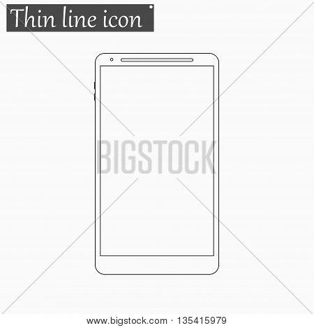 smartphone icon Vector Style Black thin line