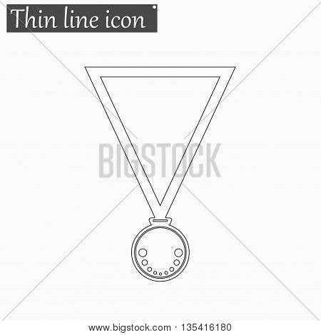 Medal icon Vector Style Black thin line