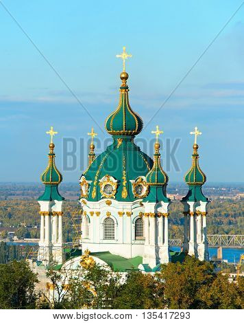 Saint Andrew Church. Kiev, Ukraine