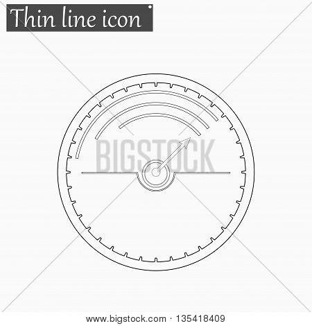 Speedometer icon Vector Style Black thin line