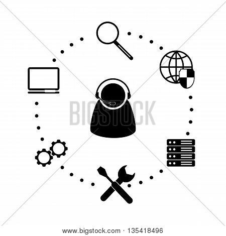 Flat icon system administrator. Business conception. Profession