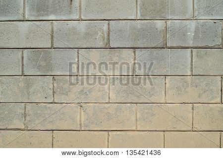 The wall of cinder block close up