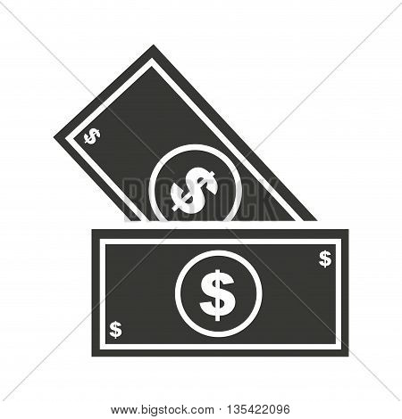 bills dollars isolated icon design, vector illustration  graphic