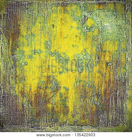 Rough textured backdrop, abstract vintage background with different color patterns: yellow (beige); brown; green; gray; purple (violet)