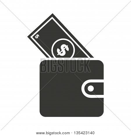 bills in wallet isolated icon design, vector illustration  graphic