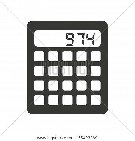 calculator isolated icon design, vector illustration  graphic