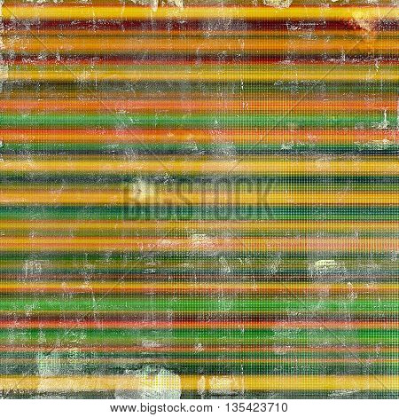 Vintage style designed background, scratched grungy texture with different color patterns: yellow (beige); brown; green; blue; red (orange); pink