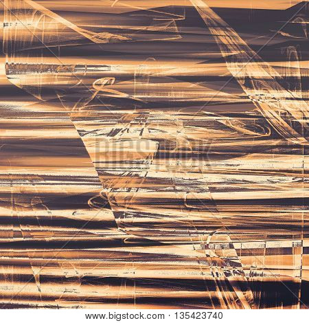Damaged retro texture with grunge style elements and different color patterns: yellow (beige); brown; gray; black