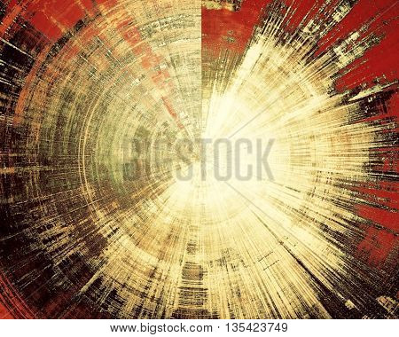 Weathered grunge elements on vintage texture for your design. Spherical aged background with different color patterns: yellow (beige); brown; red (orange); black