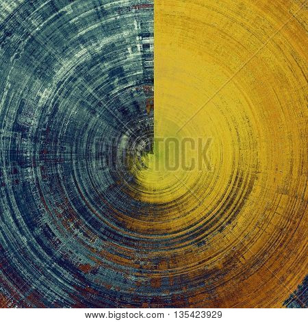 Spherical retro style grunge background, mottled vintage texture. With different color patterns: yellow (beige); brown; blue; gray; cyan