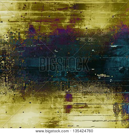 Scratched vintage colorful background, designed grunge texture. With different color patterns: yellow (beige); brown; green; blue; purple (violet); black