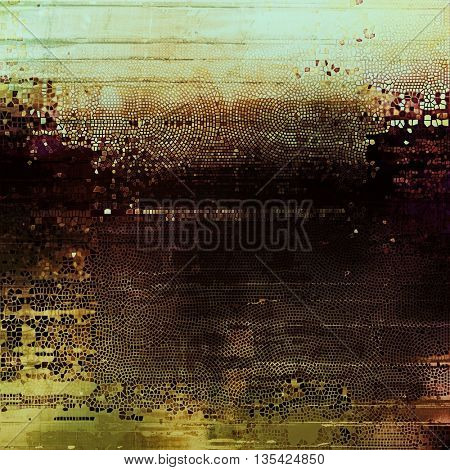 Decorated texture, antique vintage background with different color patterns: yellow (beige); brown; gray; black; cyan