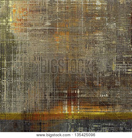 Retro style grunge background, mottled vintage texture. With different color patterns: yellow (beige); brown; gray; black